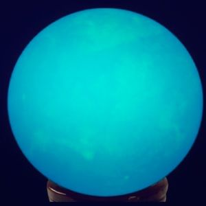 Blue Glow in the Dark 40mm Crystal Ball w/Stand